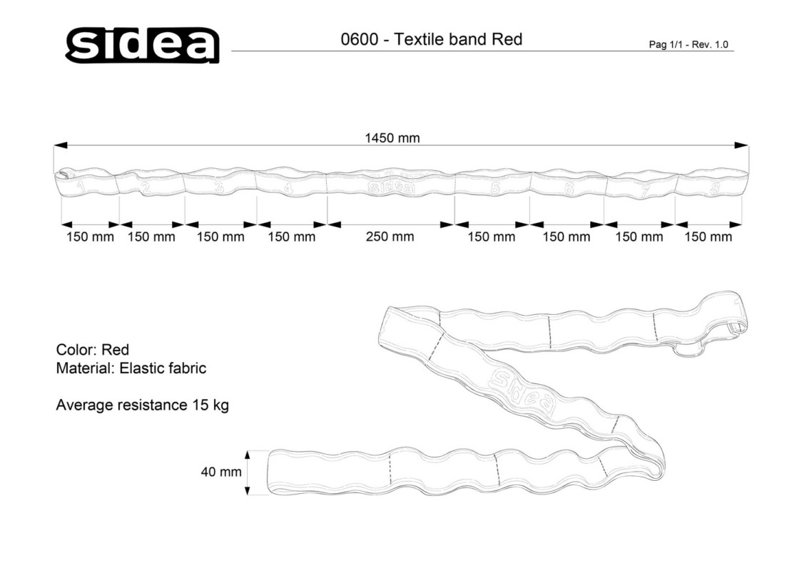 0600 Textile band Red
