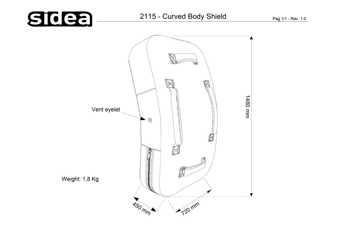 2115 Curved Body Shield