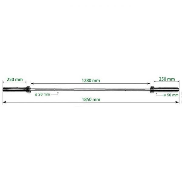 9015/3 Training Barbell 185