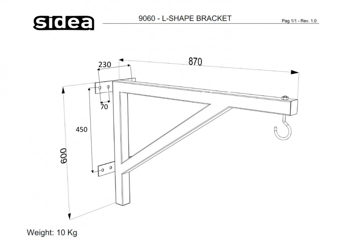 9060 - L-Shape Bracket-1