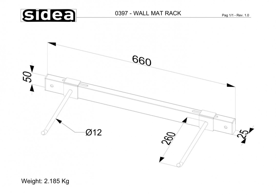 0397 - Wall Mat Rack-1