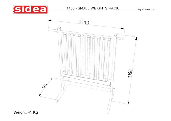 1155 - Small Weights Rack