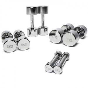 1161-1170 Pair of dumbells chromed