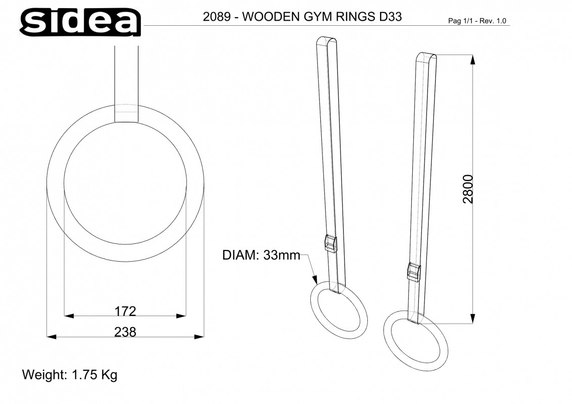 2089 - wooden ring