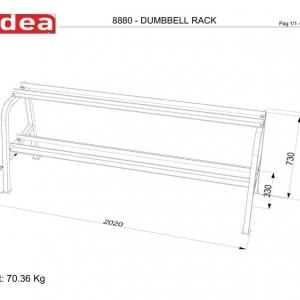 8880 - Dumbbell Rack