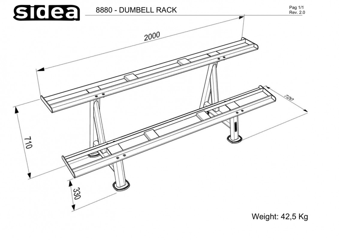 8880 - Dumbell Rack-1