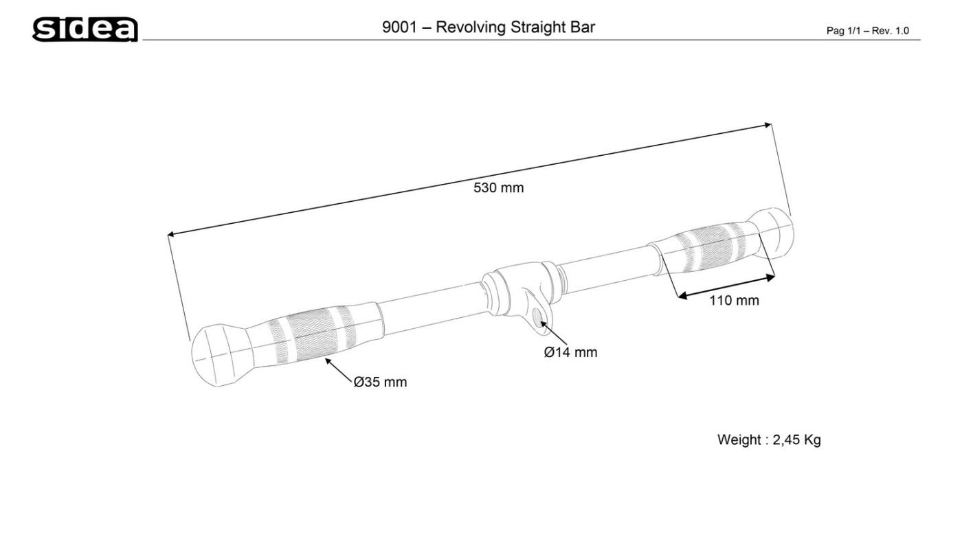 9001 Revolving Straight Bar