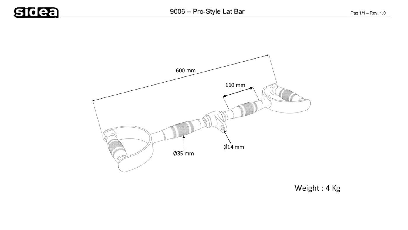 9006 Pro-Style Lat Bar