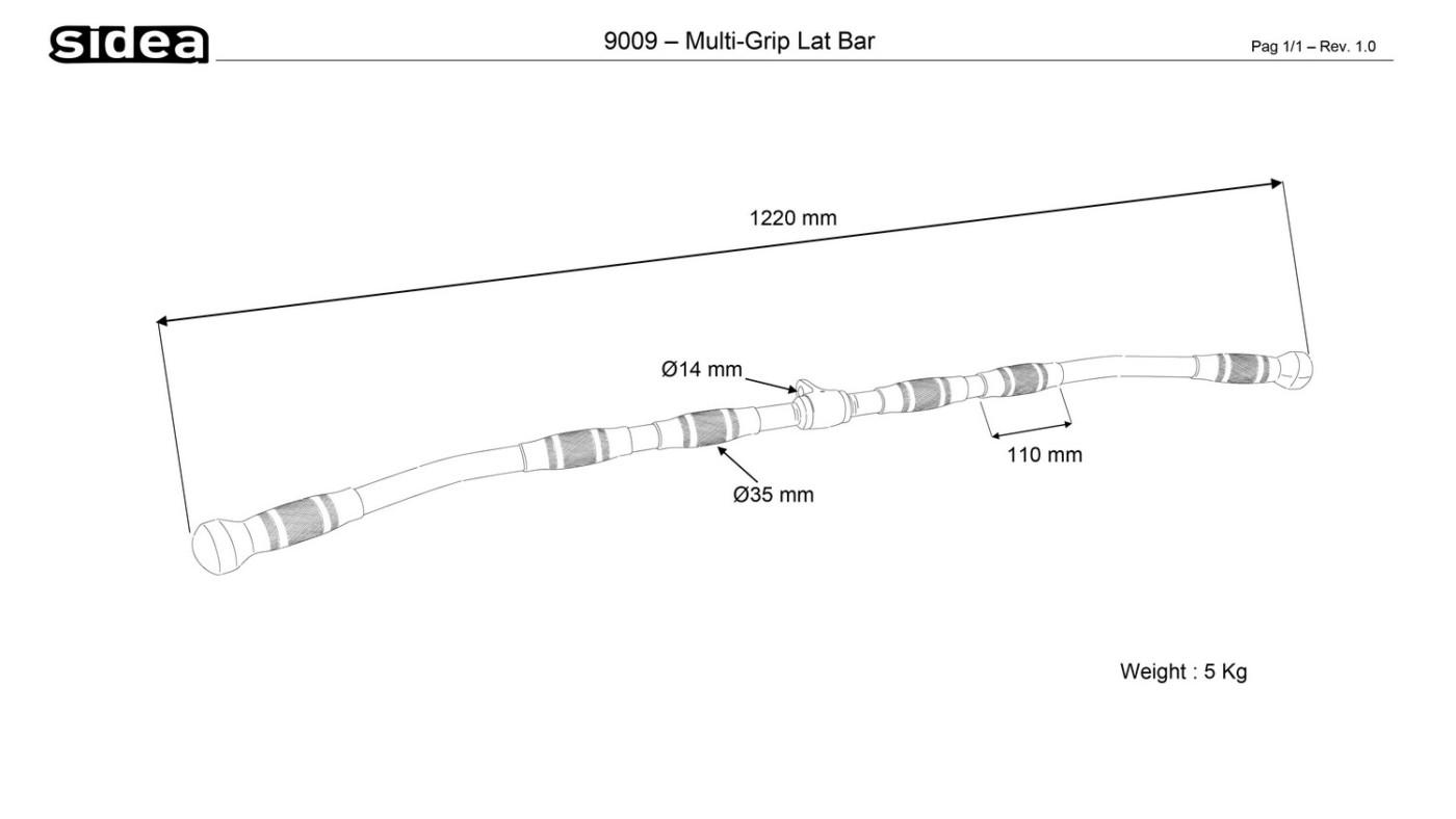 9009 Multi-Grip Lat Bar