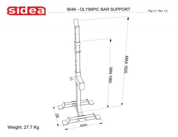 9046 Olympic Bar Support