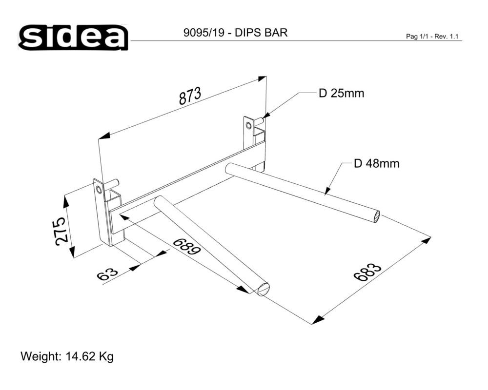 9095/19 Dips Bar