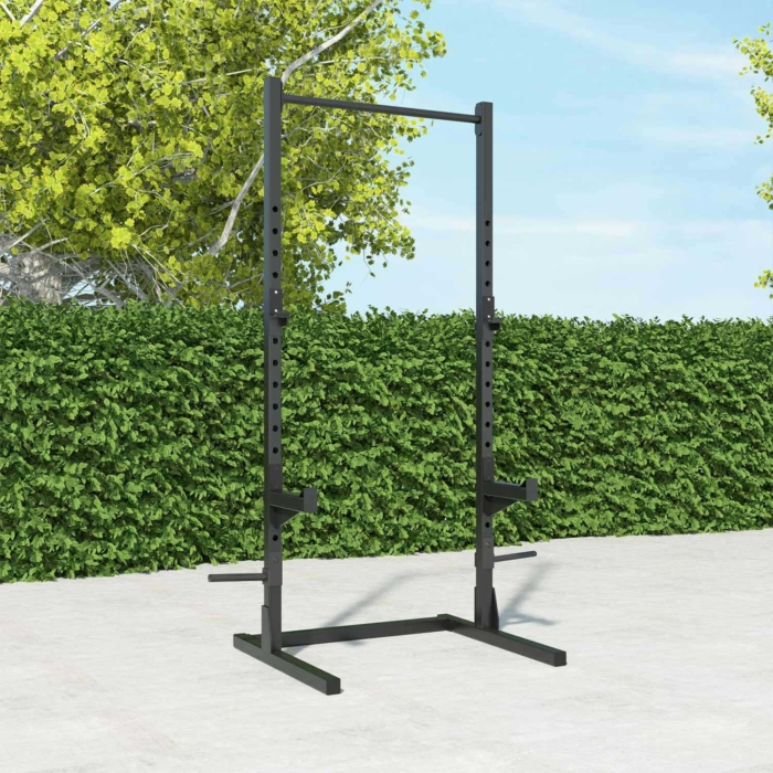 standing-rack-squat-pull-up-bar-barbell-training-strength-home-gym-functional-training-outdoor