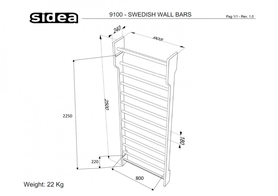 9100 - Swedish Wall Bars-1