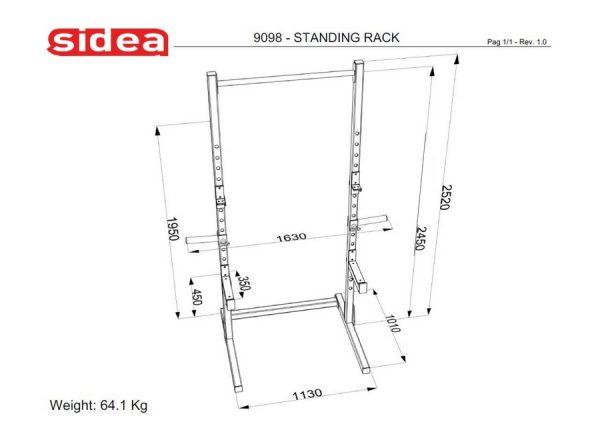 9098 Standing Rack
