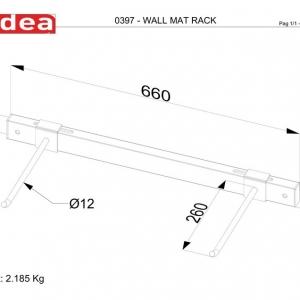 0397 Wall Mat Rack