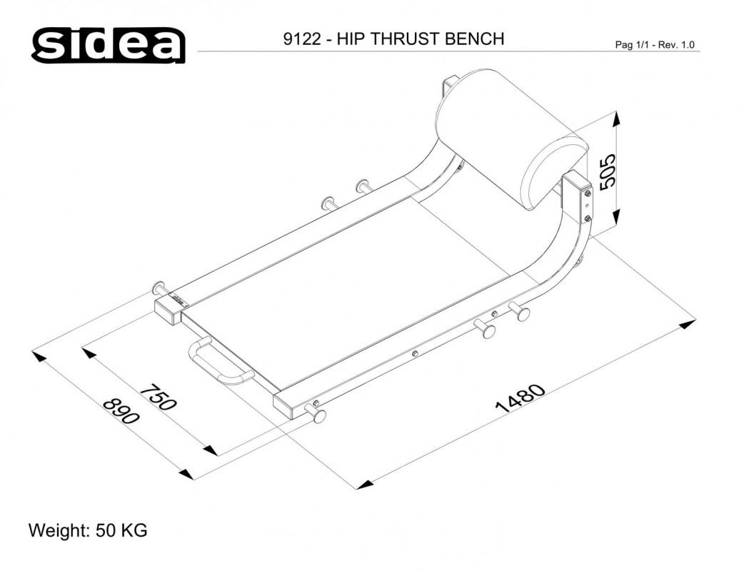 9122 - Hip Thrust Bench-1