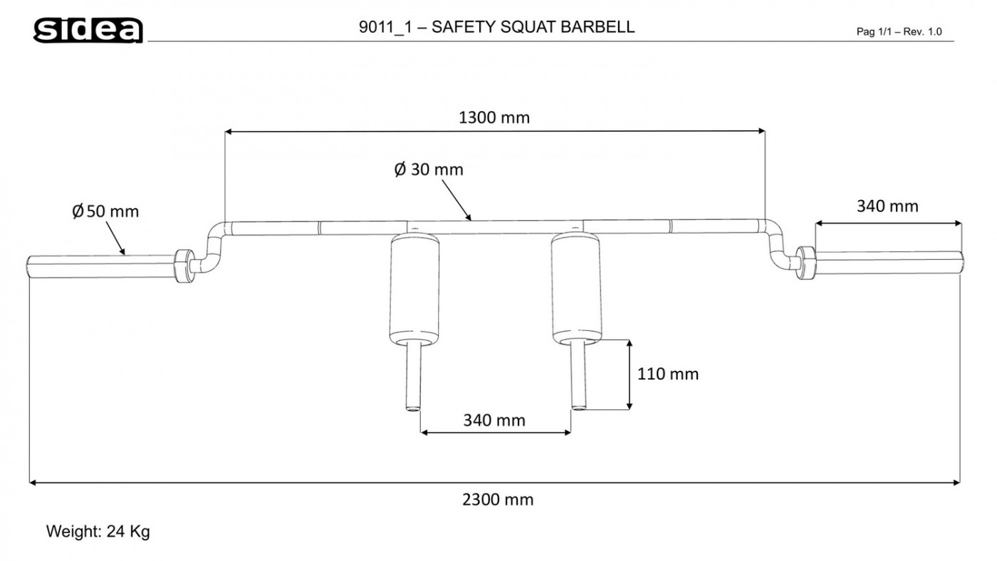 9011_1 - Safety Squat Barbell-1