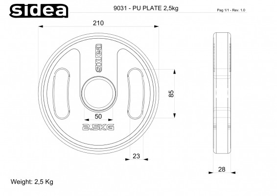 Ø21 cm Kg 2,50 – thk 30 mm