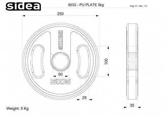 Ø21 cm Kg 5,00 – thk 30 mm