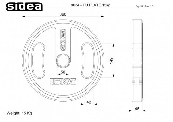 Ø36 cm Kg 15,0 – thk 45 mm