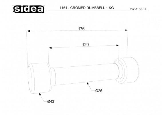1161 - Cromed Dumbbell 1Kg-1