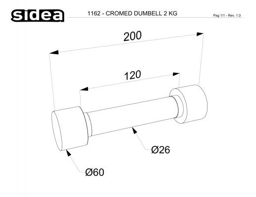 1162 - Cromed Dumbbell 2Kg-1