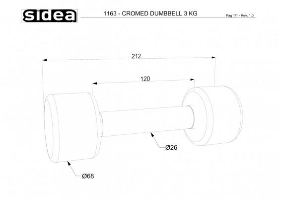 1163 - Cromed Dumbbell 3Kg-1
