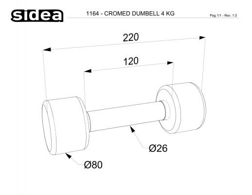 1164 - Cromed Dumbbell 4Kg-1