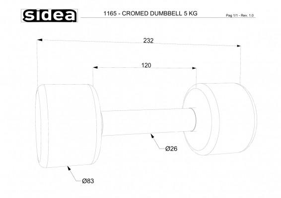1165 - Cromed Dumbbell 5Kg-1