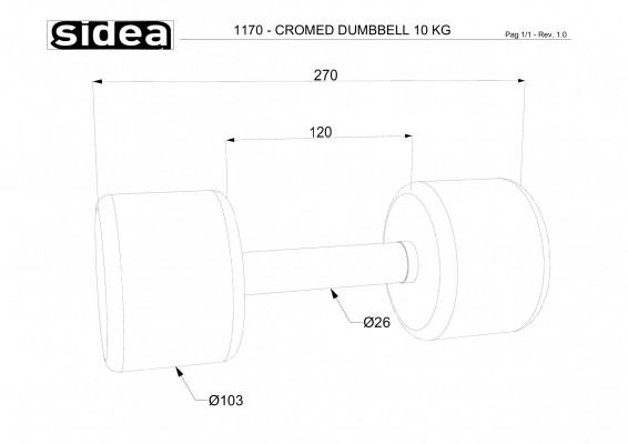 1170 - Cromed Dumbbell 10Kg-1