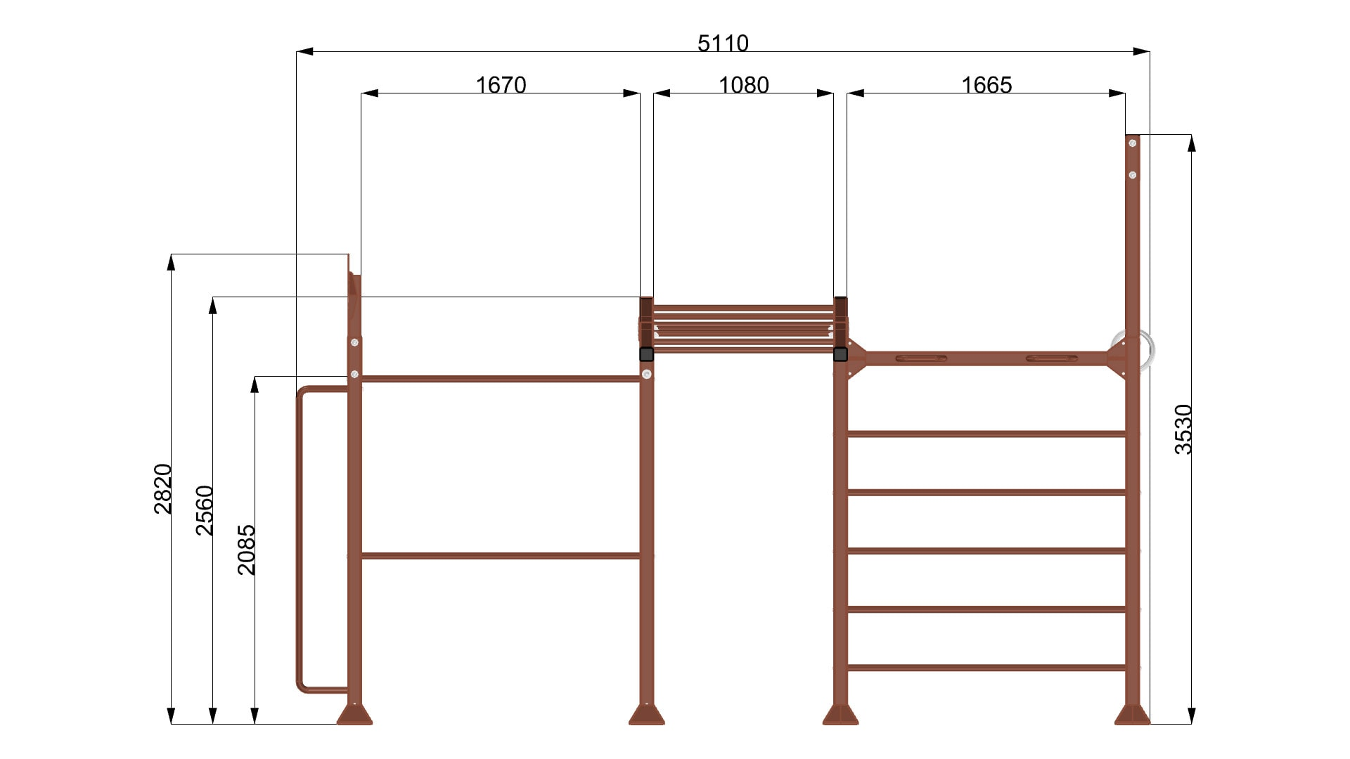 9085/1 Public Island Rack FRONT-QUOTE
