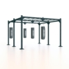 boxing-station-rack-punching-bags-bag-combat-sports-training-group-boxe-structure