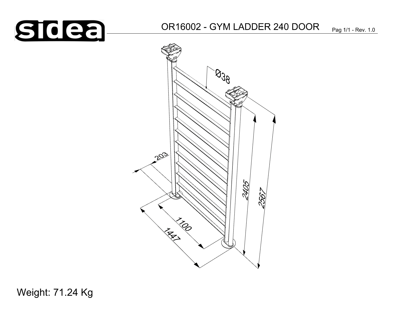 OR16002 Gym Ladder Door - Quote in mm